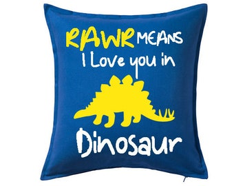 Rawr Means I Love You In Dinosaur Pillow -  Dinosaur Pillow - Boys Bedroom Decor - Dino Pillow - Dinosaur Decor - Boys Bedroom Pillow - Dino