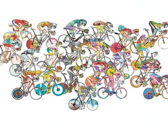 Cycling Print 'The Race 02'