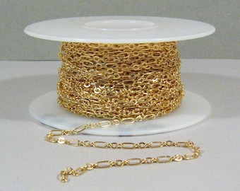 Fine Figaro Chain - Gold Plated - CH25 - Choose Your Length
