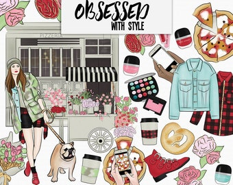 Obsessed with Style Clip Art | Digital art | Fashion Clip Art