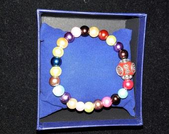 """Handmade 7"""" Bracelet Glass Pearl Beads"""