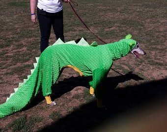 Dinosaur Greyhound costume,  Dinosaur