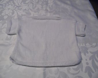 White cotton sailor Style sweater size 18 months