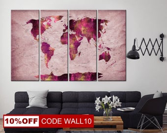 Easter map gift world map gift map wall poster world map unique world map wall decor large world map canvas world map canvas gumiabroncs Choice Image
