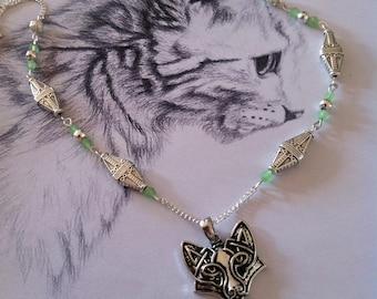 "Necklace viking celtic fox ""Cunning Fox"""