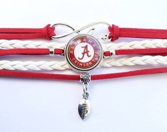 Alabama Crimson Tide - Roll Tide - University of Alabama - bracelet - football - team - sports