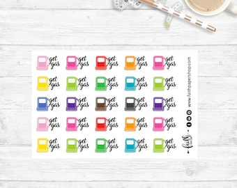 Planner Stickers - Tiny Stickers, Gas Fuel Stickers, Happy Planner, ECLP stickers, Functional Stickers, Planner,  Mini Happy Planner