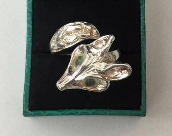Sterling Silver Fox ring