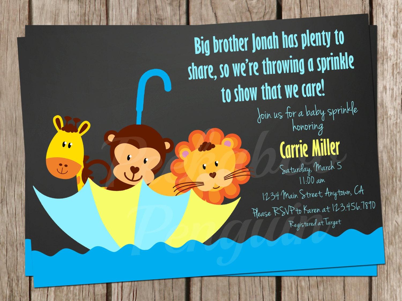 Baby Sprinkle Invites Baby Shower Invites Boy Baby Shower