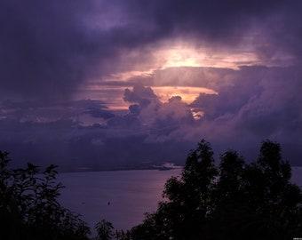 landscape stormy sky Viet Nam