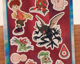 """New! Mello Smello """"Digimon"""" Sticker Sheet with Coool Activity Scenes Inside. Sealed"""