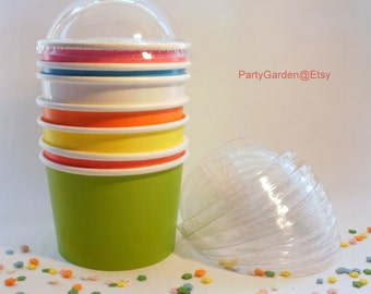 Lids Only - Dome Ice Cream Cup Lids - For 16 oz Ice Cream Cups