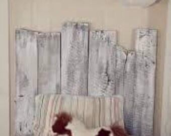Shabby chic barn wood white washed bed all sizes  FREE SHIP