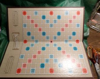 Scrabble game, Game board, board only, scrapbook, embellishment, scrabble crafting, scrabble journal, journal covers, scrabble tiles, scraps