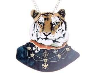 Mr Tigre wooden Necklace
