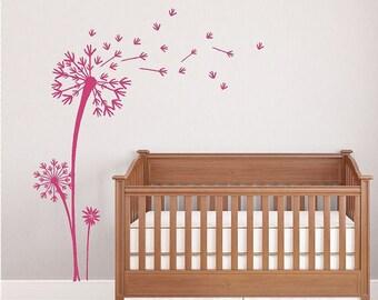 Dandelions Wall Decal | Blowing Dandelion Seeds | Vinyl Wall Decal | Dandelion Decor | Wall Art | Wall Decor | Nursery Decor | CE19H
