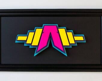 Anagram icon Design, Laser Cut Objekt, 3D Street Art, Street art Skulptur, reduzierte Graffiti Skulptur, Contemporary street art object, Art