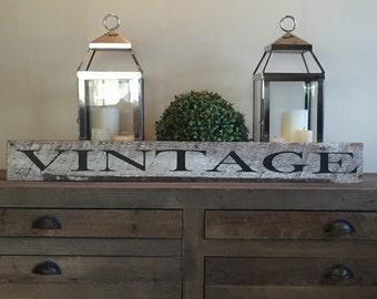 Wood Vintage Sign -   Vintage Sign