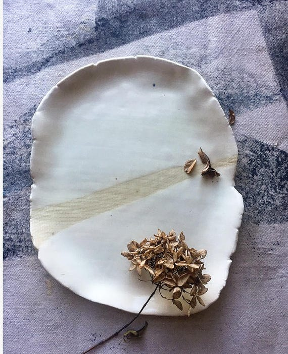 Ella Raw Edge Platter