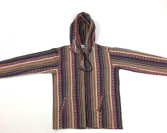 Medium - Cotton Hooded Full Zip Jacket - Made In Nepal