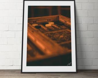 Shesh Besh, backgammon, Arabic, Syrian, Mosaic,  Vintage, Digital Photography, Coffee shop
