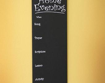Family Home Evening Chalkboard LDS Home Decor & Art