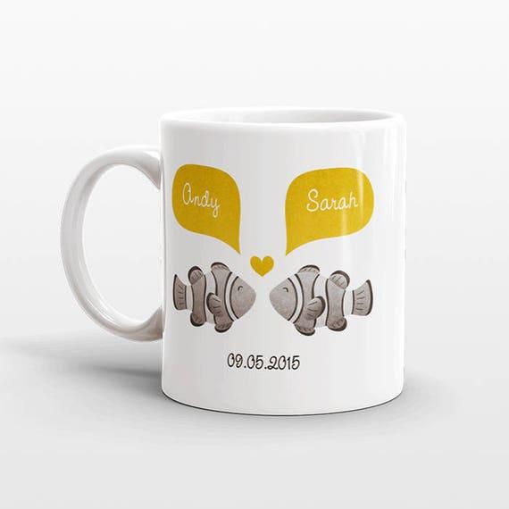 CLOWN FISH Mug Valentines Day Gift for Boyfriend Him Her Animal Couple Mug Unique Wedding Gift Idea Coffee Mug Personalized Mug Coffee Cup