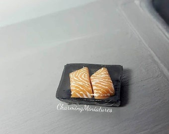 1:12 Scale Handmade Miniature Dolls House Raw Salmon