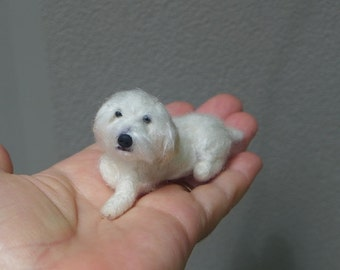 Felt Miniature of your Pet / Custom Pet Portrait / Needle Felted Dog /Cute Dollhouse Pet /example Terrier Mix /poseable Gourmet Felted