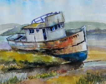 S.S. Point Reyes - art print, watercolor print, shipwreck