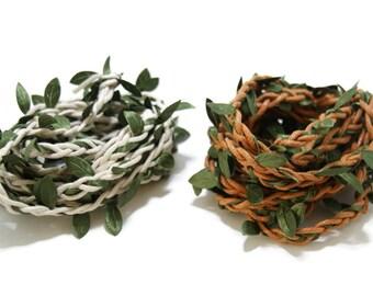 Cord beige foliage / coffee - 50cm