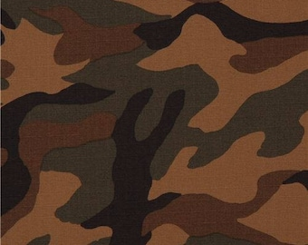 215756 Robert Kaufman brown cotton ripstop fabric Sevenberry Camouflage 3