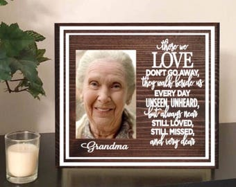 Remembrance gift - heaven quote - memorial quote - love memory quotes - loss of loved one - memory photo frame - heaven - memorial frame