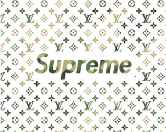 SUPREME Poster CAMO A1 Large bedroom poster stylish and trendy collab with Louis V Rare