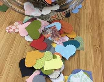 Multi-Colored Heart Punches, Die Cuts and Confetti