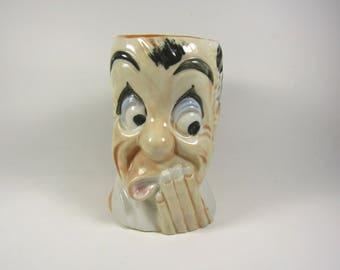 Vintage Character Mug with Dog Handle Japan