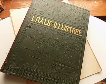 Antique Book - Italian art - In FRENCH - HIGHLY Illustrated - Book Lovers