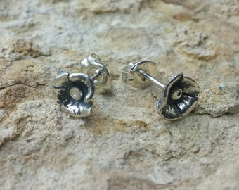 Sterling Silver Poppy Earrings