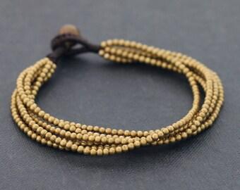 Multi 6 Strand Brass Bracelet