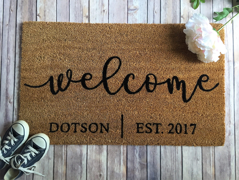 personalized doormat welcome windows birch mats monogrammed rugs lane pdp reviews door classic