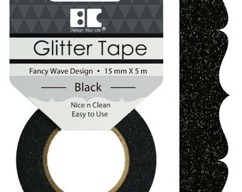 Glitter Tape Designs- Fancy Wave~~6 colors available 15mm x 5m~~