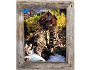 Barnwood Picture Frame - Homestead Narrow 1.5 Inch Flat Rustic Reclaimed Wood Frame