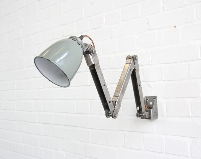 Rare Wall Mounted Industrial Task Lamp Circa 1930s