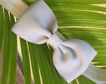 Gray bow headband