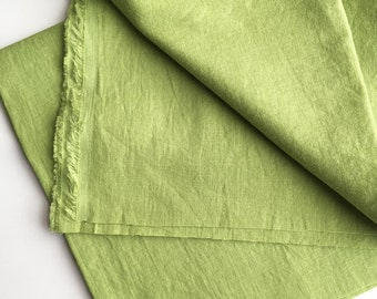 cotton blended linen fabric. japanese light weight tumbler washer fabric. 95cm wide (37.4in). sold by 50cm long (19.6inch). pistachio
