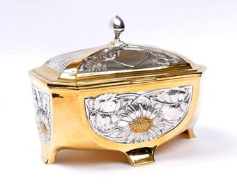 "Silver Jewelry box ""Daisy"""