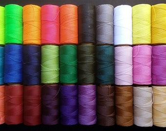 4 ROLLS 170 meters LINHASITA waxed thread, macrame polyester wax (1 mm thick) high quality
