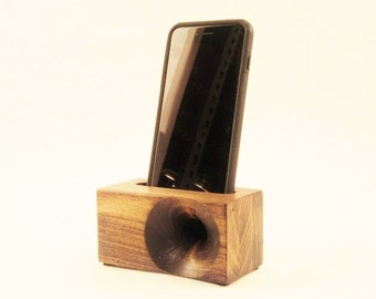 Acoustic iPhone Speaker for iPhone 4 and iPhone 5, Passive iPhone Speaker, Wood iPhone Dock,  iPhone Speaker Dock, Great Stocking Stuffer