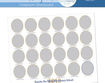 8x10 Classroom Storyboard  (Class Size 24) - Photographer Resources
