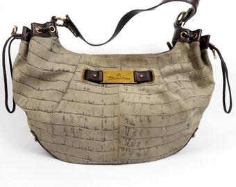 ETIENNE AIGNER Bag, Handbag Tote, Aigner Shoulder Bag, Genuine Leather, Made in Italy